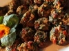 Stuffed Mushrooms with Fennel, Sundried Tomato, Blue Cheese and Pine Nuts