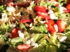 Salad Greens w/ fresh strawberries, toasted hazelnuts w/housemade vinaigrette