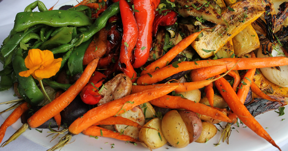 Assorted grilled seasonal veggies