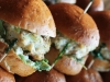 Herbed Chicken Sliders with Arugula and Goat Cheese