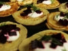 Blini with creme fraiche, beets and dill