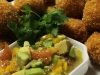 Crab fritters with citrus salsa