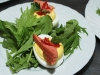 Deviled Eggs on spicy greens bed