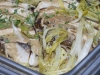 Chicken Breasts with Leeks, Porcini Mushrooms, Rosemary and Sage