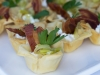 Filo Cup with Goat Cheese, Sauteed Leek and Pancetta