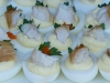 Deviled Eggs with Smoked Salmon (tabiko/watercress)