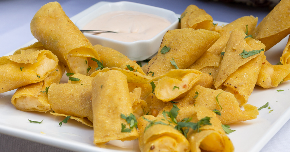 Vegetarian potato flautas