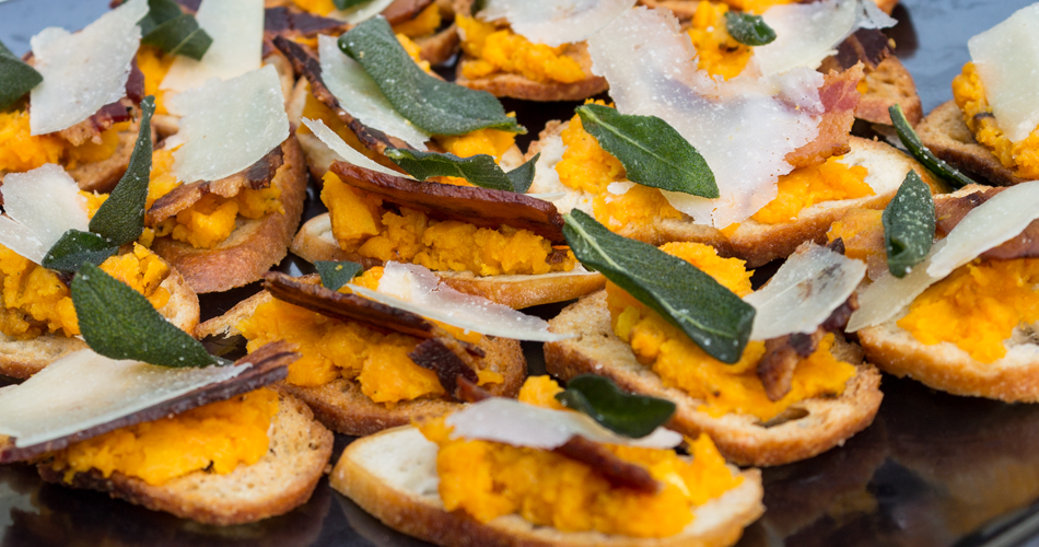 Butternut squash, fried sage and pancetta