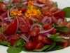 Tomato, onion salad with mint